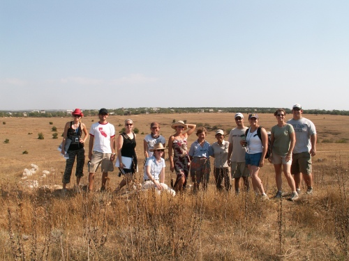 Ashley, Tyler, Christine, Caroline, Hope (our professor), Irina (our translator), Dr. Galina Pashkevich (Ukrainian paleobotanist), Jane, Eli, Erin, Tiffany, Tom.  Photo credit: Tiffany