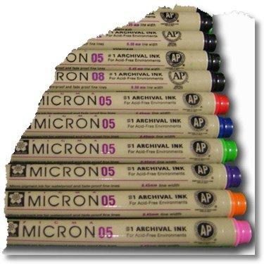 micron pens 13 SQUARE 2